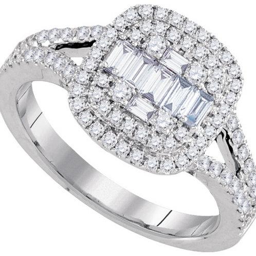 Anillo 3/4 ctw aprox 75 puntos Diamantes Oro 18k 4.5gr