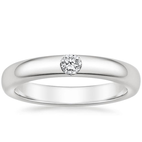 Solitaire Band 1/4 Ctw 18K