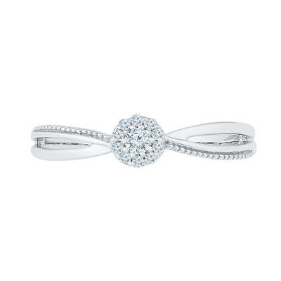1/10 Ctw 10kt Diamond Solitaire Promise Bridal Ring