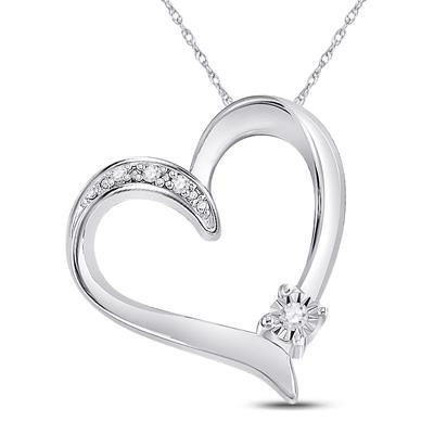 Charm Heart Diamond Pendant