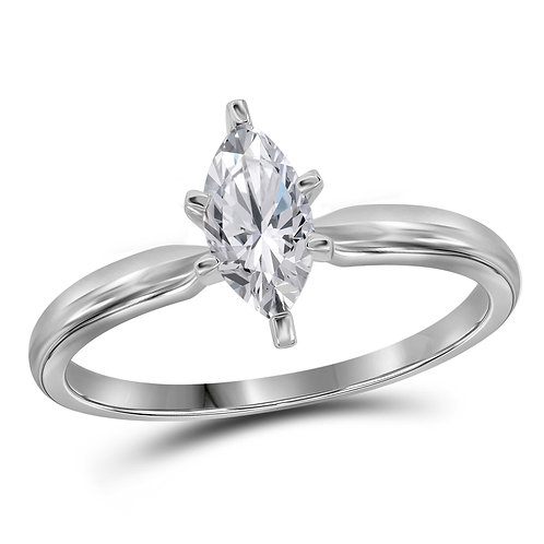 3/4Ctw 14K Solitaire Bridal Wedding