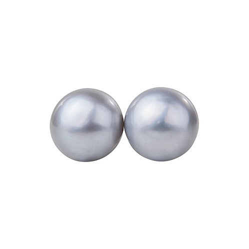 Cala 12mm Grey Pearl Earrings