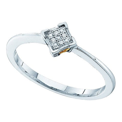 Anillo con 4 Diamantes 0.01ctw en total
