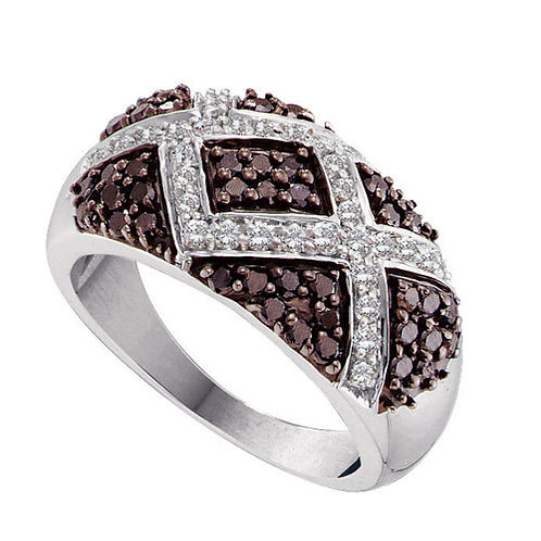 Anillo 1 ctw Diamante Chocolate Oro 14k 6.56gr