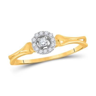 14kt 1/6ctw Diamond Solitaire Bridal Ring
