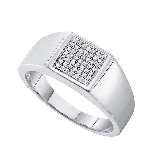 Anillo 1/6ctw. aprox. 16 puntos 49 diamantes Plata 925 4.527gr.