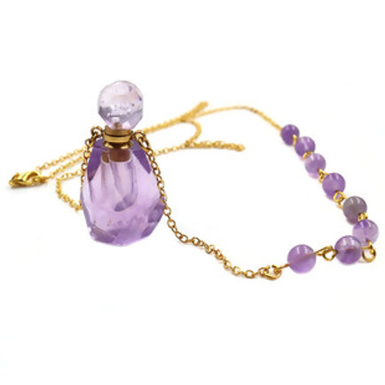 PAZ 3ml Oil Perfume & Amethyst Necklace