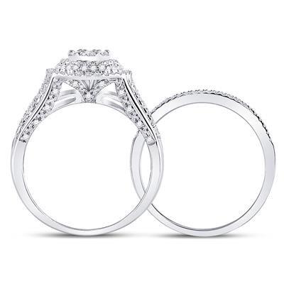 Zinnia White Diamond Ring