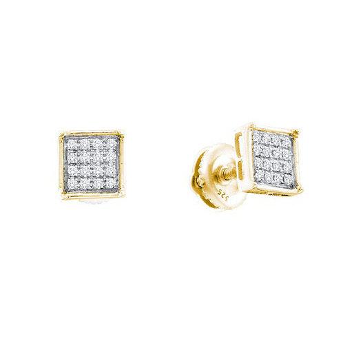 Aretes 18 Diamantes 5 puntos en total Plata 925 0.740 gr.