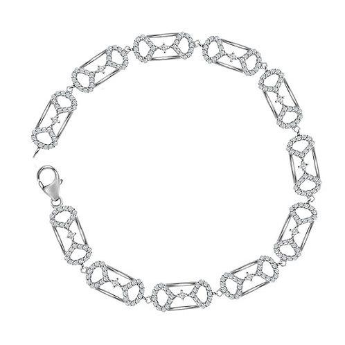 Brazalete 1ctw Diamante 10k 6.4gr