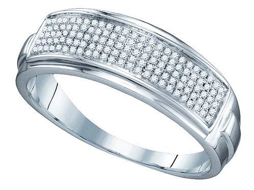 Anillo 1/5ctw aprox. 20 puntos 72 diamantes Plata 925 4.92 gr.