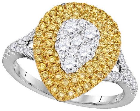 Anillo 1 1/10 ctw aprox. 110 puntos Diamantes Oro 18k 4.67gr