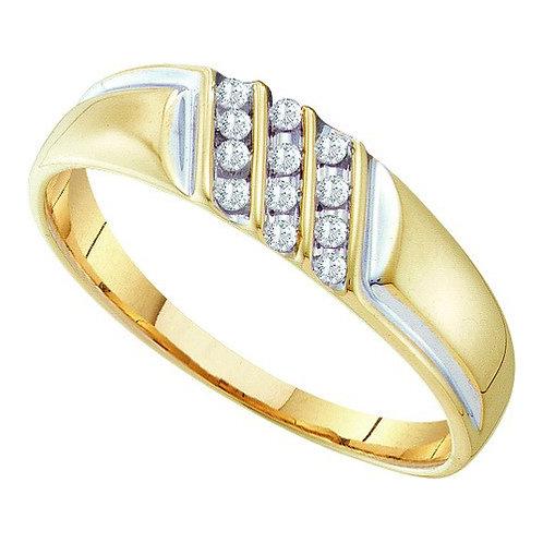 Anillo 1/8ctw aprox. 12 puntos 12 diamantes Oro 10k 1.36gr.