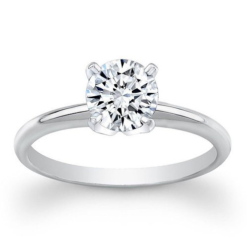 1Ctw 18K Solitaire Bridal Wedding