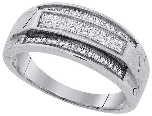 Anillo 1/5ctw aprox. 20 puntos 64 diamantes Plata 925 3.86gr.