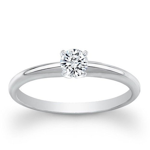 1/4 Ctw 18K Solitaire Bridal Wedding