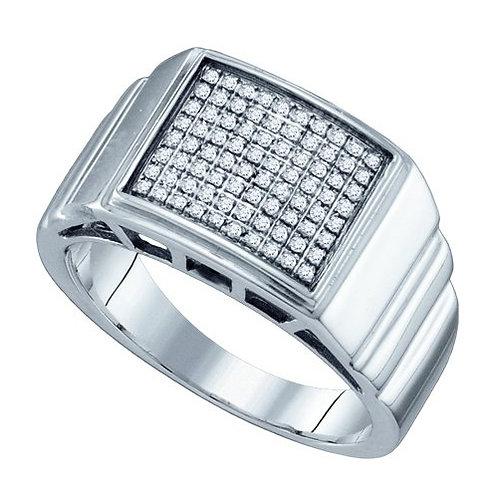 Anillo 1/4ctw aprox. 25 puntos 80 diamantes Plata 925 4.243 gr.