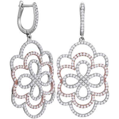 18k 1 3/4 ctw Diamond Earring