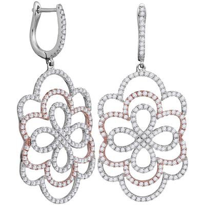 Zinnia 18k Diamond Earring