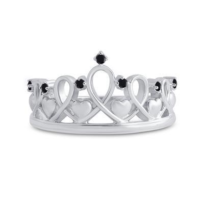 Ring My Queen Black Diamonds
