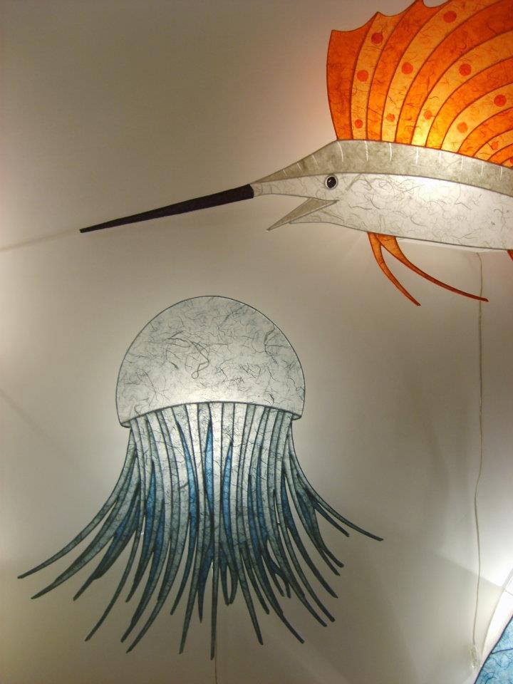 G. d'Eustachio - pesce spada e medusa - carta e ferro