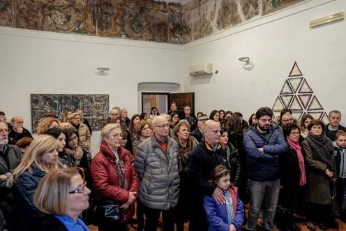 Il pubblico al vernissage