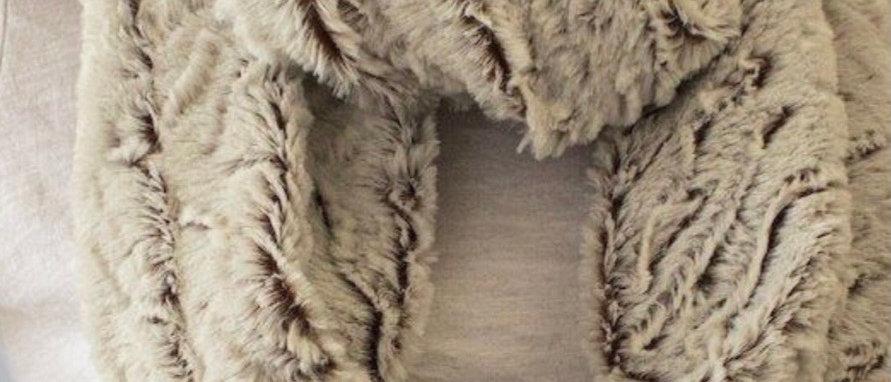 Faux Fur Fur Cutwork Infinity Scarf