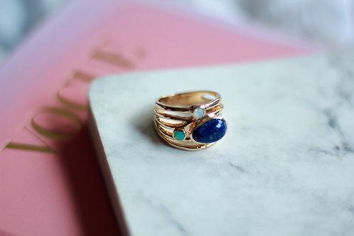 Anillo Piedras azules