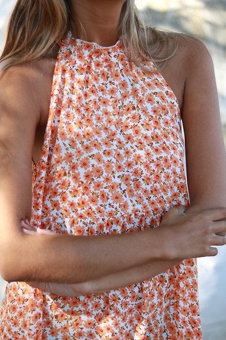 Vestido Paloma orange