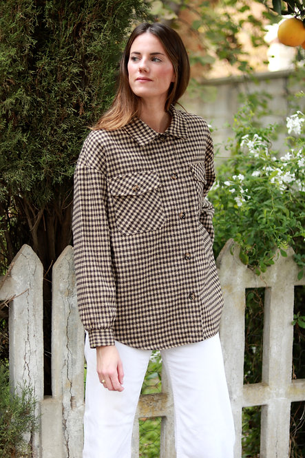 Camisa Olivia Tartan