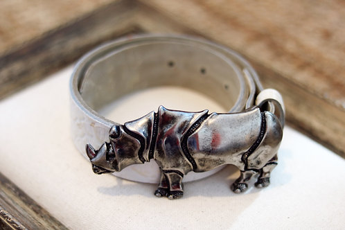 Hebilla Rinoceronte plata