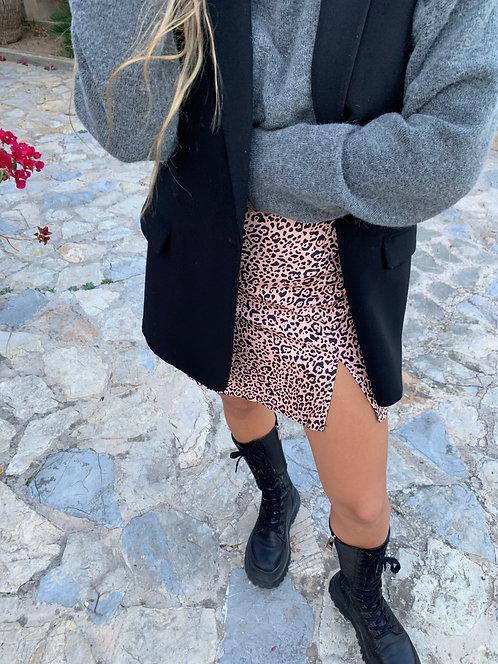 Falda Leopard nude