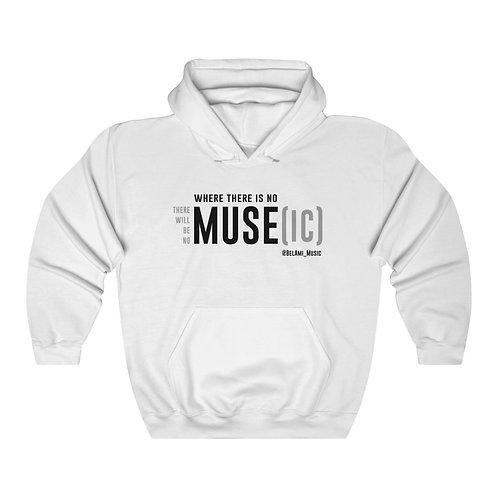 No MUSE, No MUSE[ic] Hoodie (white)