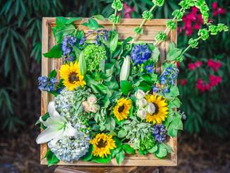 Framed Floral Scape