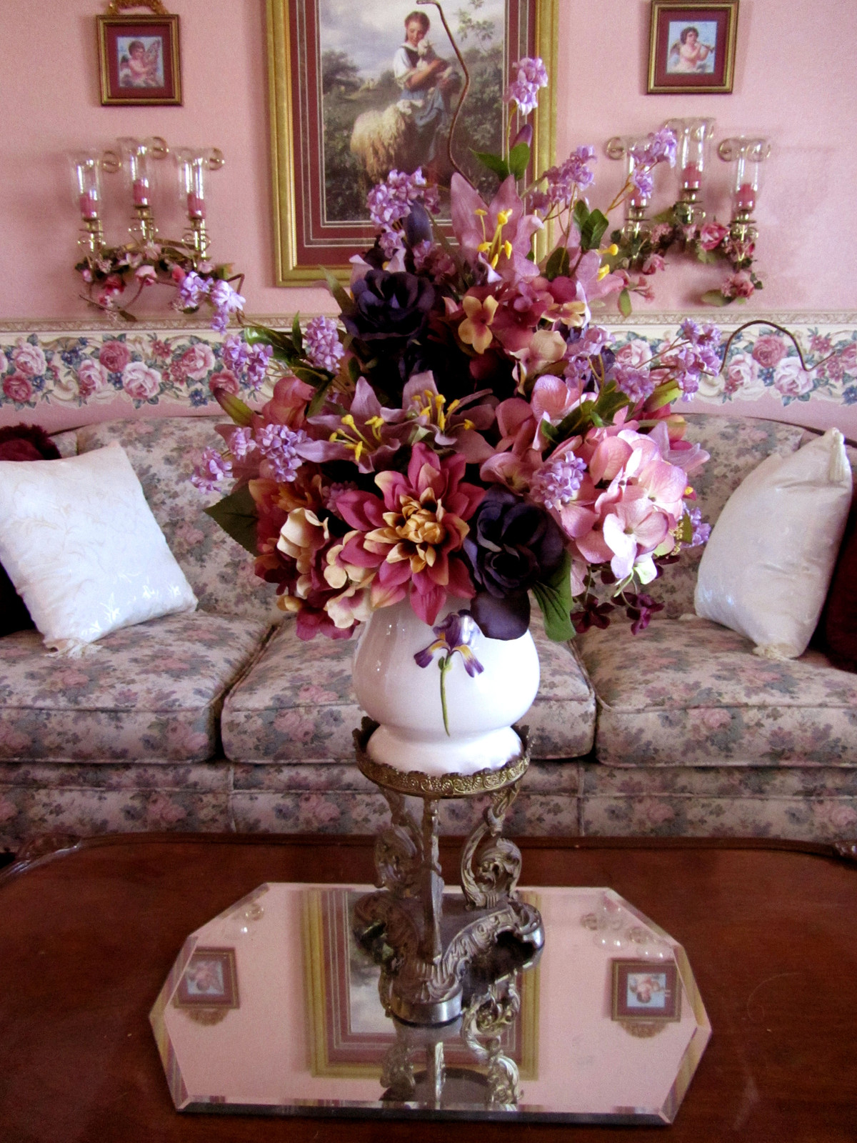Silk Victorian Centerpiece Wildwood And Bloom Tucson Florist