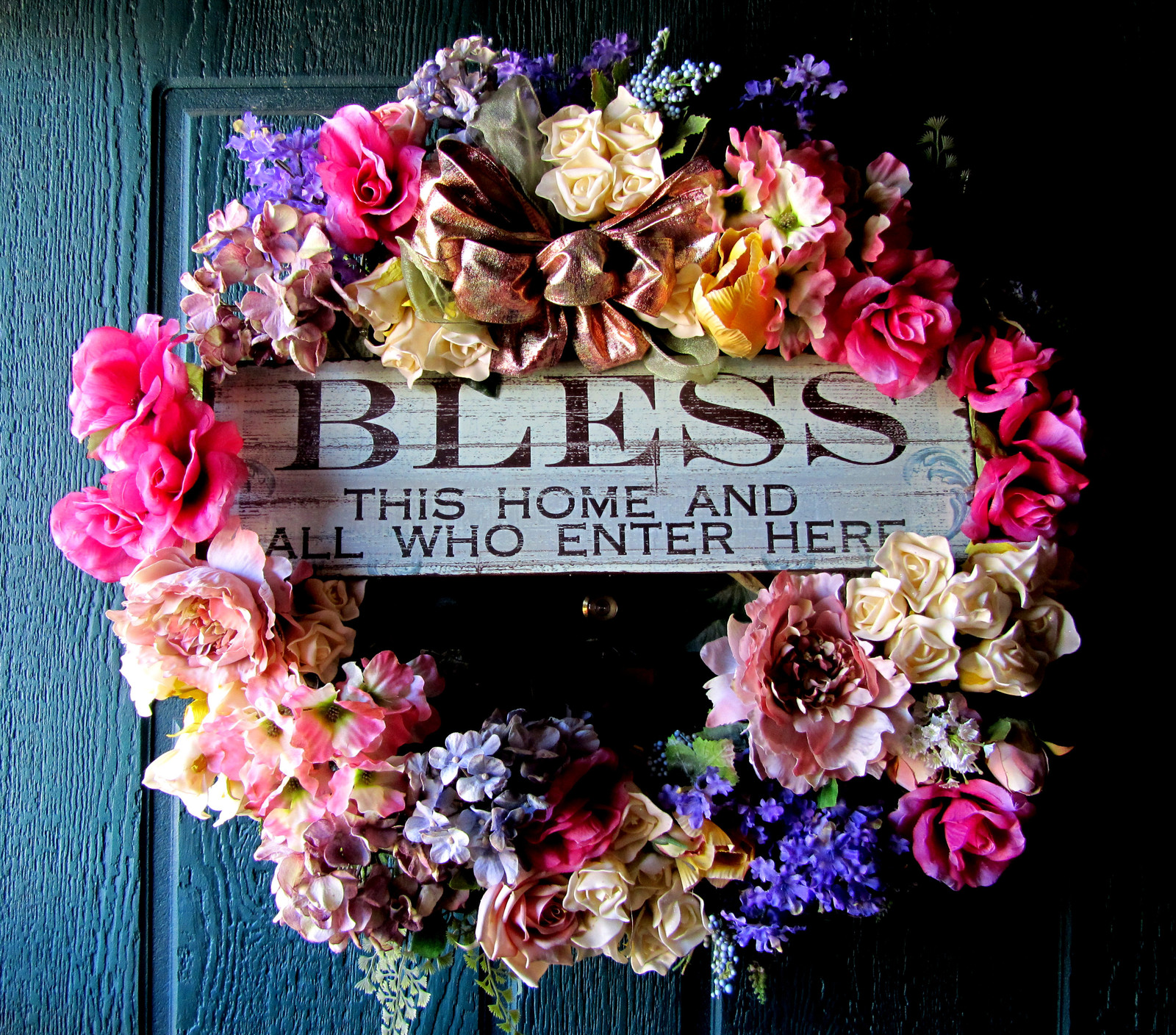 Silk Front Door Wreath Wildwood And Bloom Tucson Florist