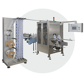 Stretch sleeve labeling machines