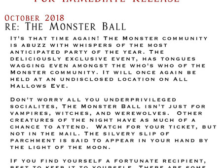 Coming 10/31/18: The Monster Ball Anthology