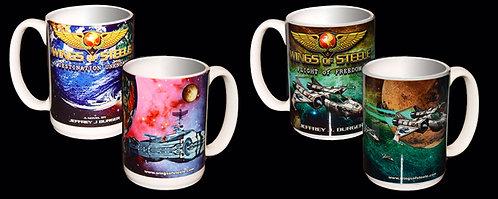 Wings of Steele Ceramic 2 Mug Set