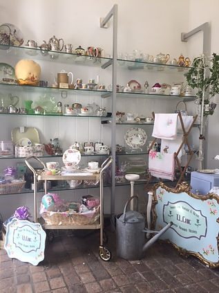 Vintage china and shabby accessories