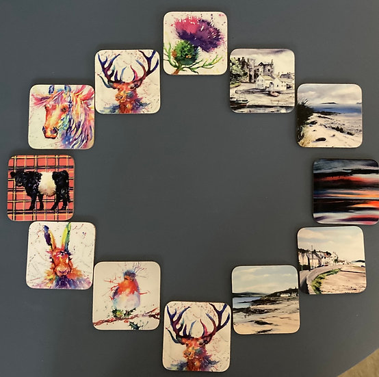 Local Artists Sue Metcalf & Angela Lawrence - coasters