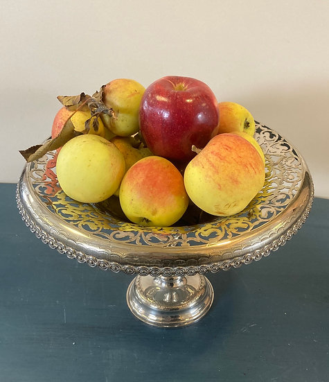 Vintage silver  plated fruit or cakestand