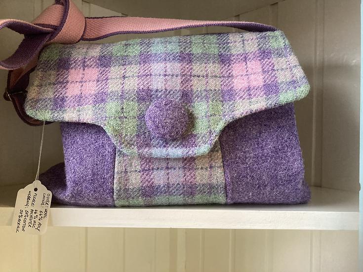 Harris Tweed Shoulder Bag -   Handmade by Lawrie in Dumfries and Galloway
