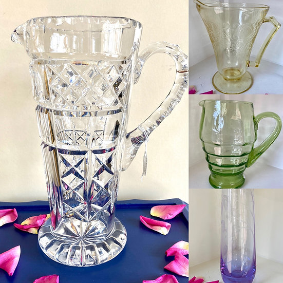 Vintage jugs and vases £8 upwards