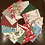 Thumbnail: Christmas Decoupage Word Kit -NOEL includes 7 decoupage napkins.