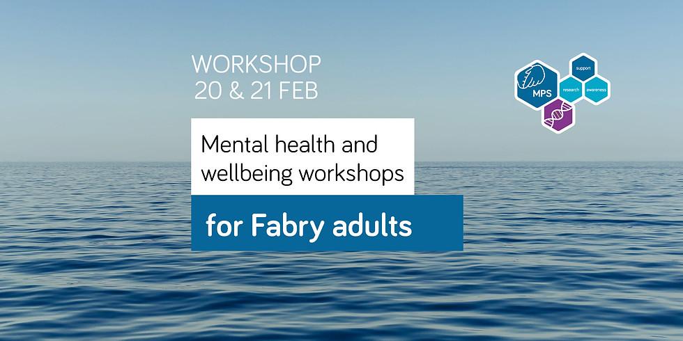 Workshop for Fabry adults | 12-1pm | 20 & 21 Feb