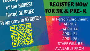 📢 Registration for 3K/Pre-K and Kindergarten through 5th Grade is NOW OPEN!!!
