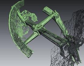 oSimplified 3D mesh scan by the Artec Eva 3D Scanner.