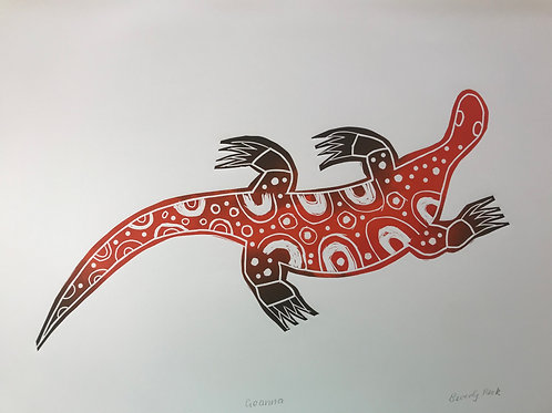 Red Goanna Print