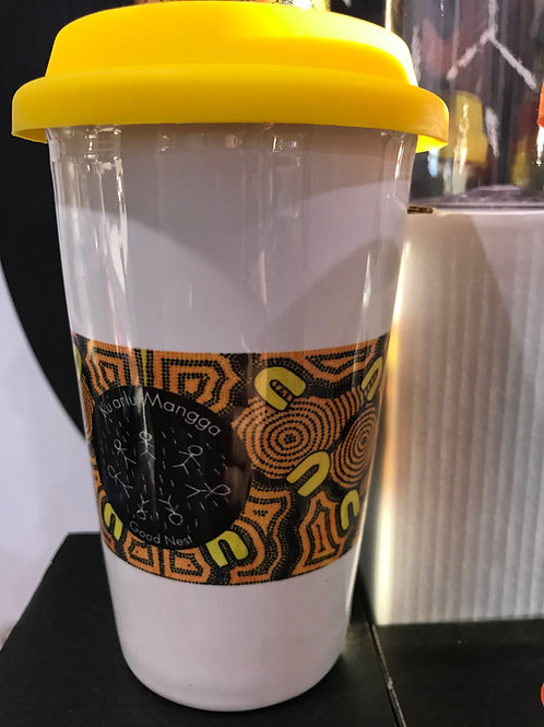 River design reusable coffee cup